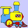 Mini tren verde para colorear juego