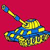 Para colorear de coche moderno tanque militar juego