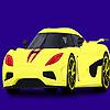 Colorear coche moderno y rápido juego