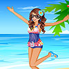 Nelly at the sea dress up juego