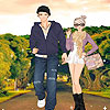 New couple on the road dress up juego