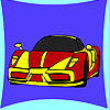 Nuevo colorante del coche de concepto juego