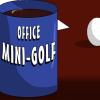 Mini golf de oficina juego