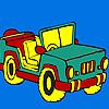 Open top jeep coloring juego