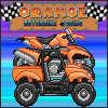 Carreras de motos naranja juego