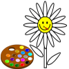 Me pintar flor juego