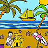 Palm beach coloring juego