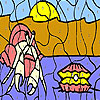 Pearl and insect coloring juego