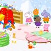 Decoración de sala de juegos de Peppa Pig