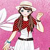 Pink garden girl dress up juego