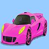 Colorante color rosa coche precioso juego