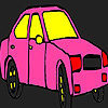 Pink city taxi coloring juego