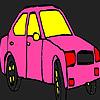 Colorear taxi de ciudad rosa juego