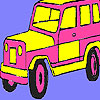 Pink mountain jeep coloring juego