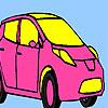 Rosa para colorear coche personal juego