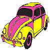 Colorear coche de tortuga rosa juego