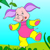 Playful Elephant Coloring juego