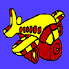 Colorear avión podgy juego