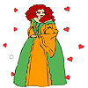Princess at the heart firework coloring juego