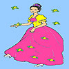 Pretty girl flower garden coloring juego