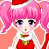 Chica guapa bonita Navidad juego