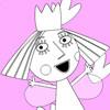 Acebo de princesa para colorear juego