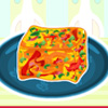 Red Pepper Frittata Squares juego
