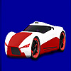 Red concept racing car coloring juego