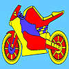 Red race motorcycle coloring juego