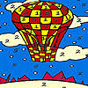 Red flying balloon coloring juego
