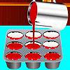 Cupcakes de terciopelo rojo juego