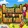 Chica de rescate del parque temático juego