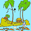 Shepherd on the beach coloring juego