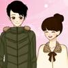 Shoujo Manga San Valentín pareja de vestir juego