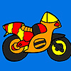 Colorear pequeño moto colores juego