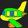 Colorear avión especial juego