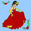 Colorear princesa de la fiesta de primavera juego