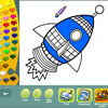 Space coloring pages juego
