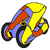 Space concept car coloring juego