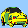 Spectacular fast car coloring juego