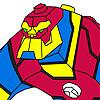 Súper héroe para colorear juego
