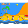 Tropical Beach Coloring juego