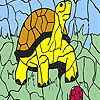 Turtle and ball coloring juego