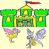 Two cute fairy coloring juego