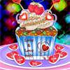 Tortas de la taza de San Valentín juego
