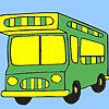 Para colorear de autobuses de vacaciones juego