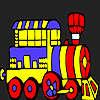 Vacaciones de tren para colorear juego