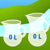 Frascos de agua juego