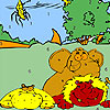 Zoo animals and insect coloring juego