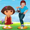 Zoe con Dora Dress Up juego